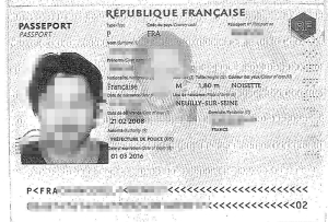 Certified Passport Translation in Shanghai: France passport