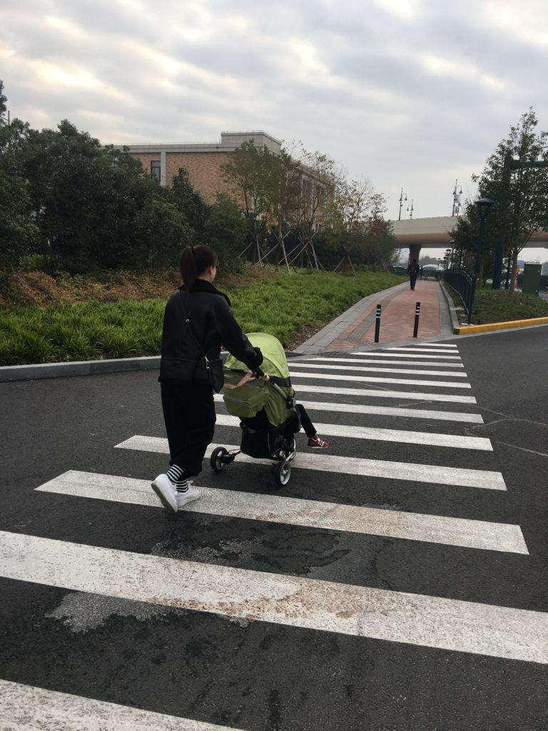 rend stroller in Shanghai Disneyland Park
