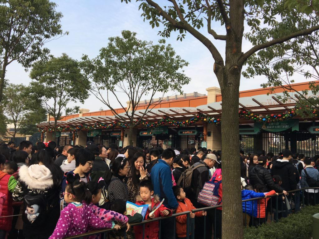 One of Shanghai Disneyland tips to avoid huge lines is to arrive earlier