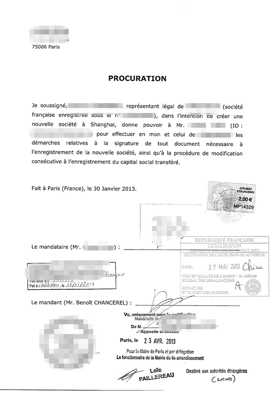 Certified Translation for Power of Attorney Letter of